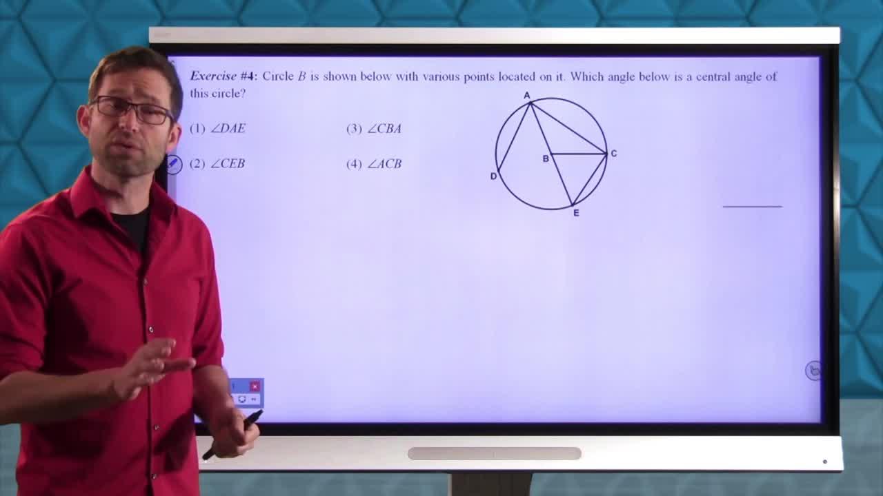 Common Core Geometry Unit 9 Lesson 1 Circle Terminology