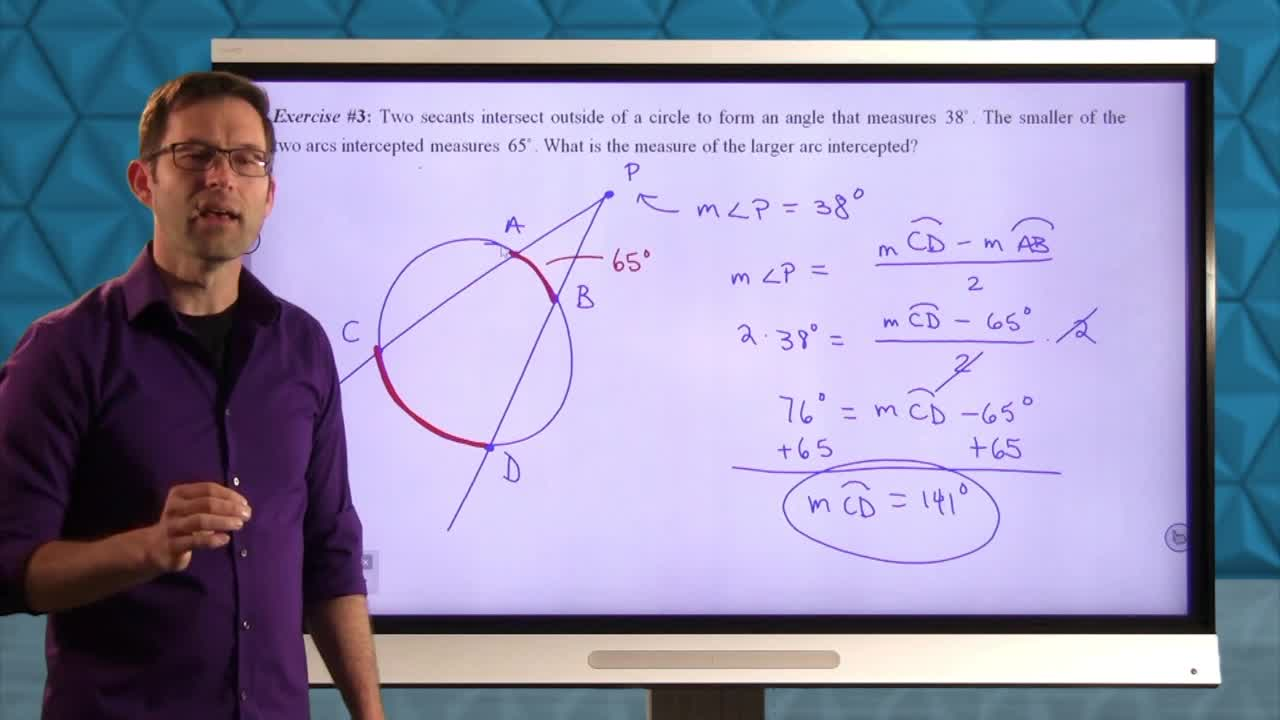 Common Core Geometry Unit 9 Lesson 6 Tangents, Secants, and Their Angles