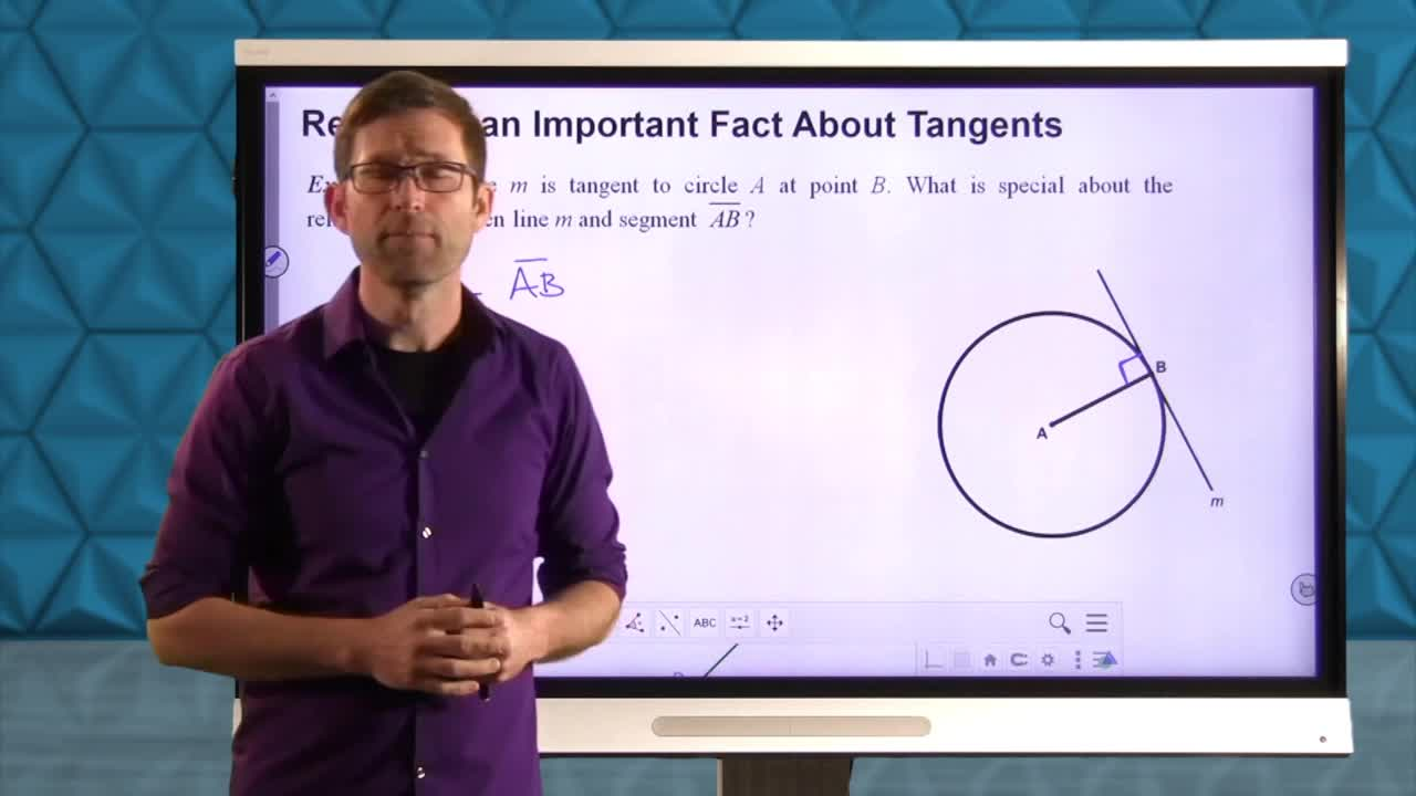 Common Core Geoemtry Unit 9 Lesson 11 Constructing Tangents