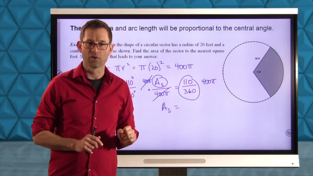 Common Core Geometry Unit 10 Lesson 5 Sectors of Circles