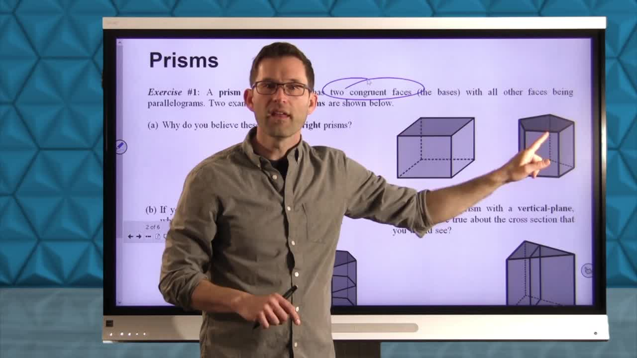 Common Core Geometry Unit 10 Lesson 7 Solids and Their Cross Sections