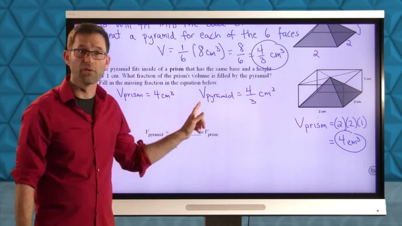 Common Core Geometry Unit 10 Lesson 9 The Volume of Pyramids and Cones
