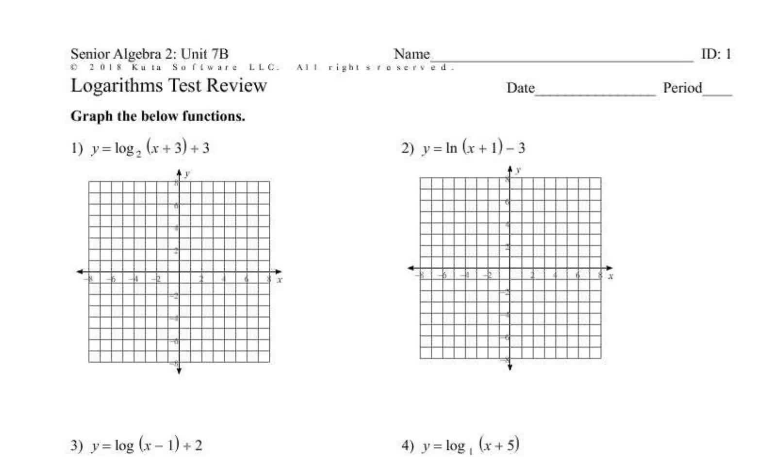 Unit 7B Test Review (Seniors)