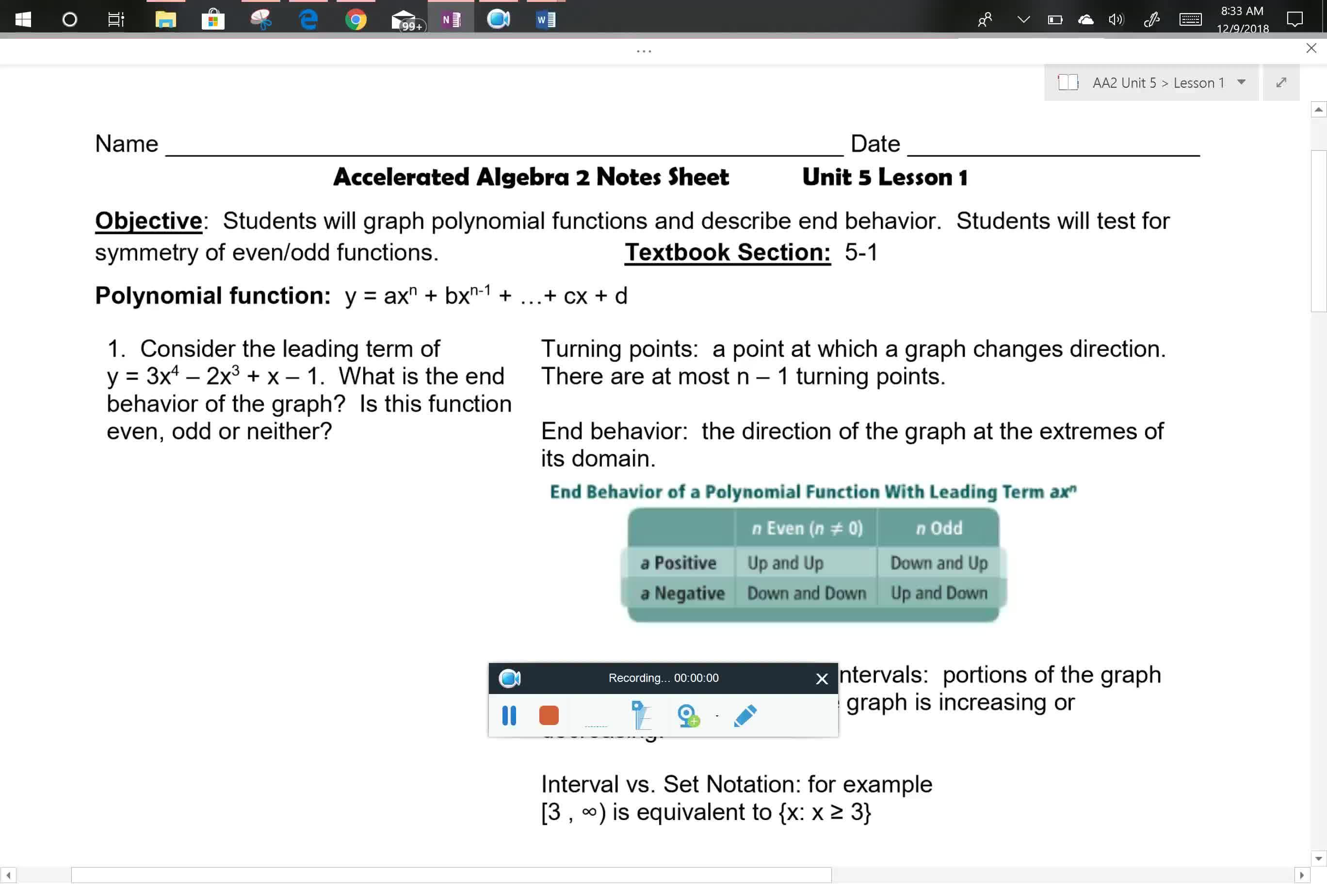 AA2 U5L1 Problem 1