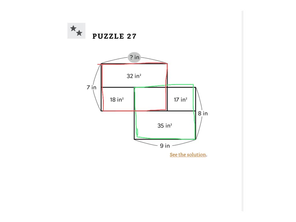 area puzzles - 23-27 solutions