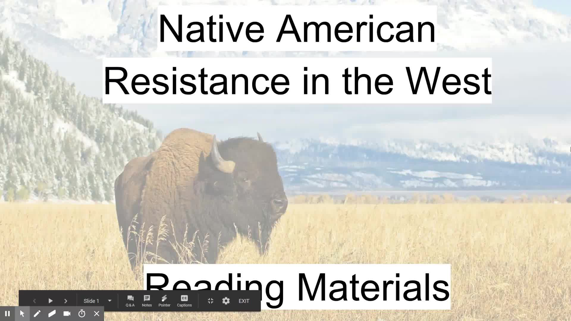 Native American Resistance Read Aloud