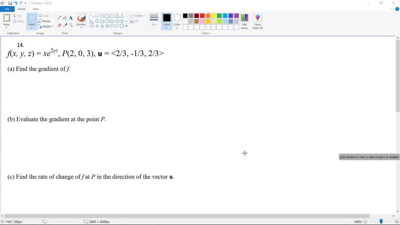 SVGS Advanced  Calculus Midterm Exam Review Problem 14