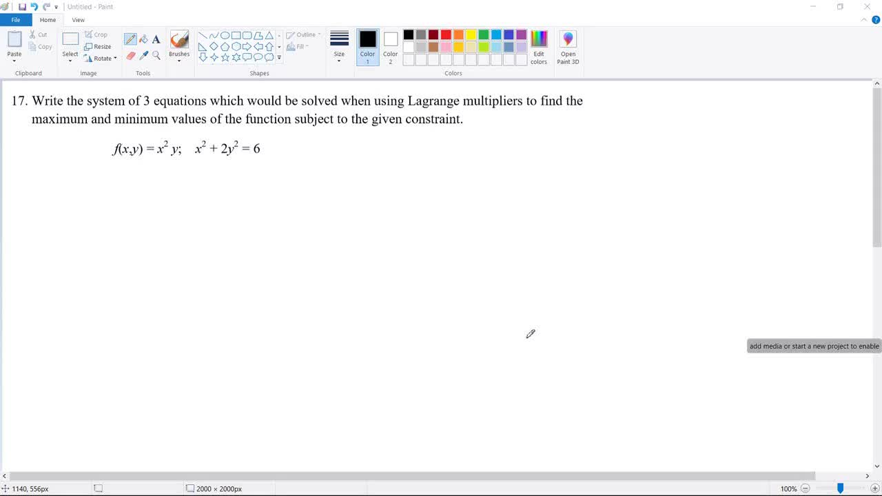 SVGS Advanced  Calculus Midterm Exam Review Problem 17