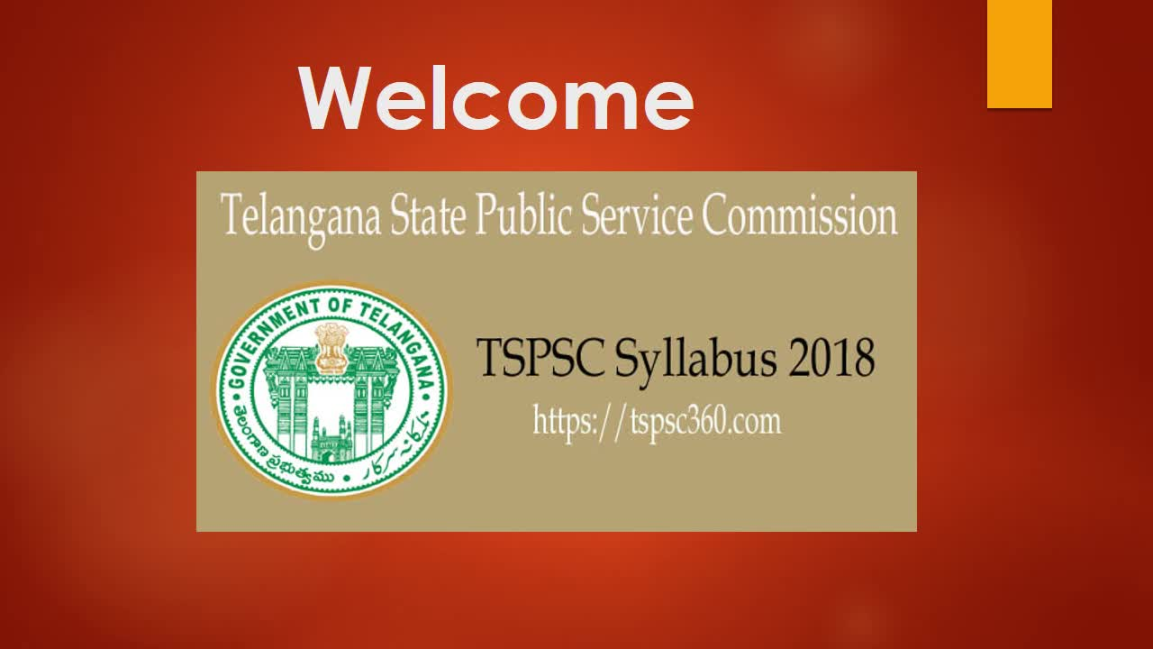 TSPSC Syllabus 2018-19 Download TSPSC Paper Pattern & Scheme