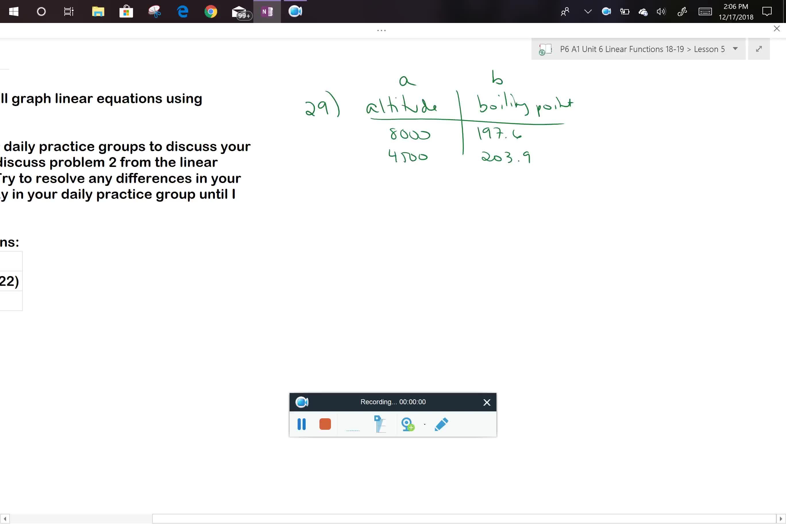 A1 U6L4 Daily Practice Problem 29