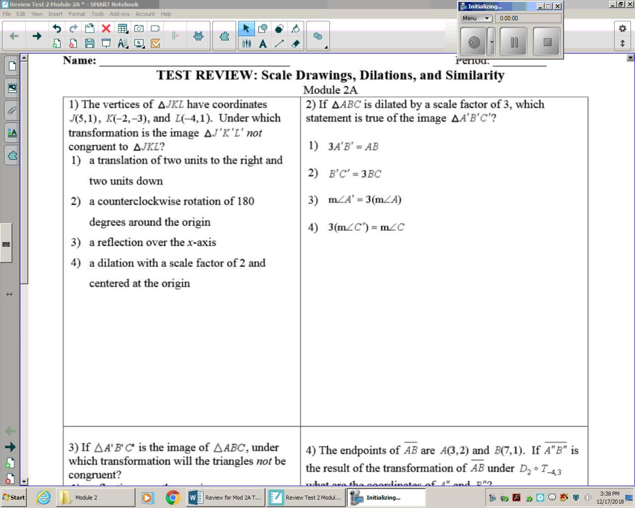 Review for Exam Mod 2 L1-6