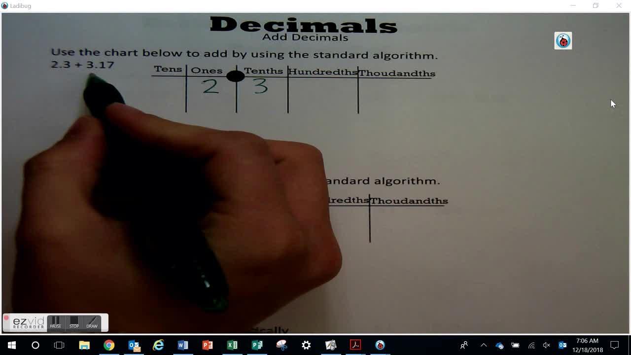 Add Decimals Day 60