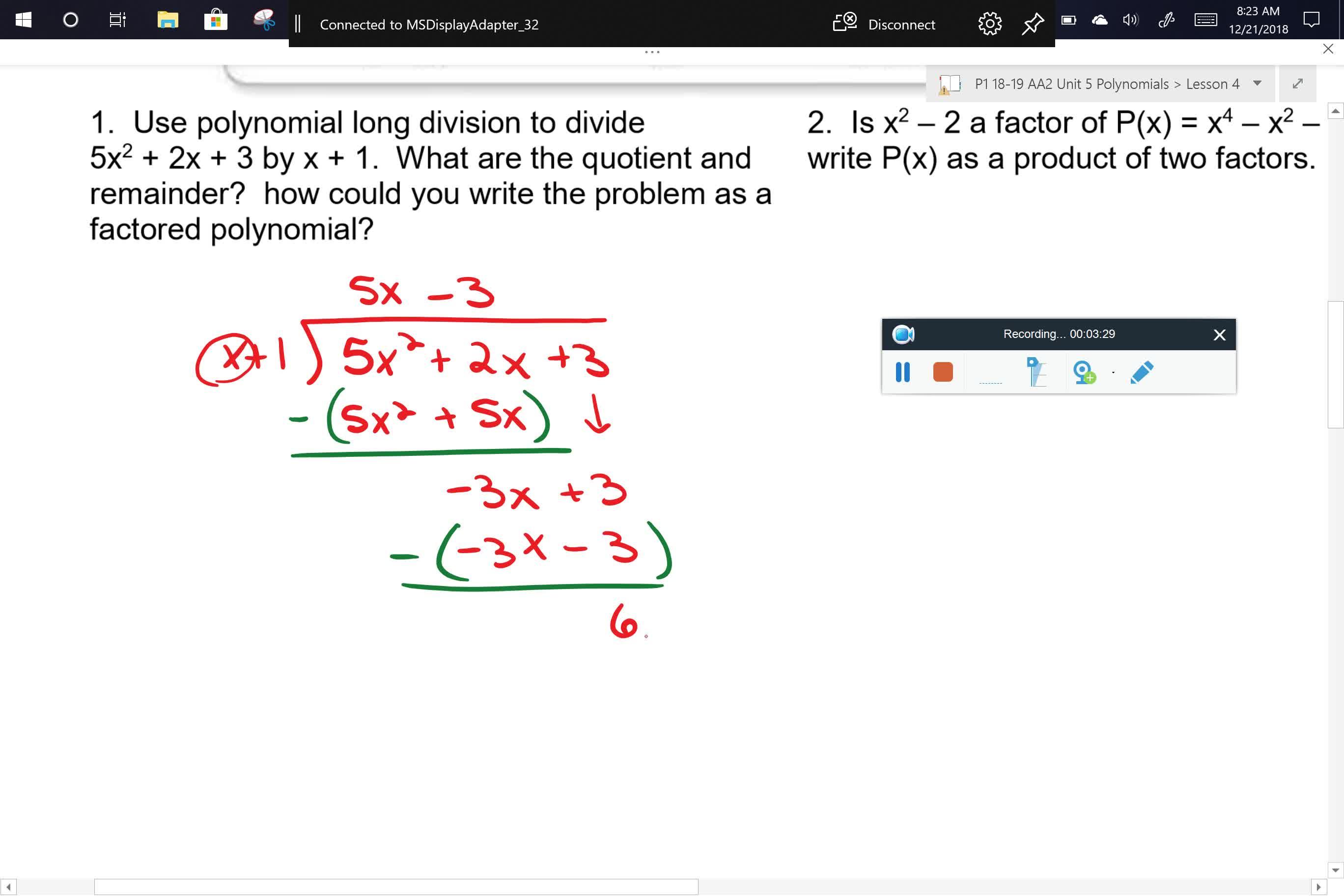 AA2 U5L4 Problem 1 Part 1