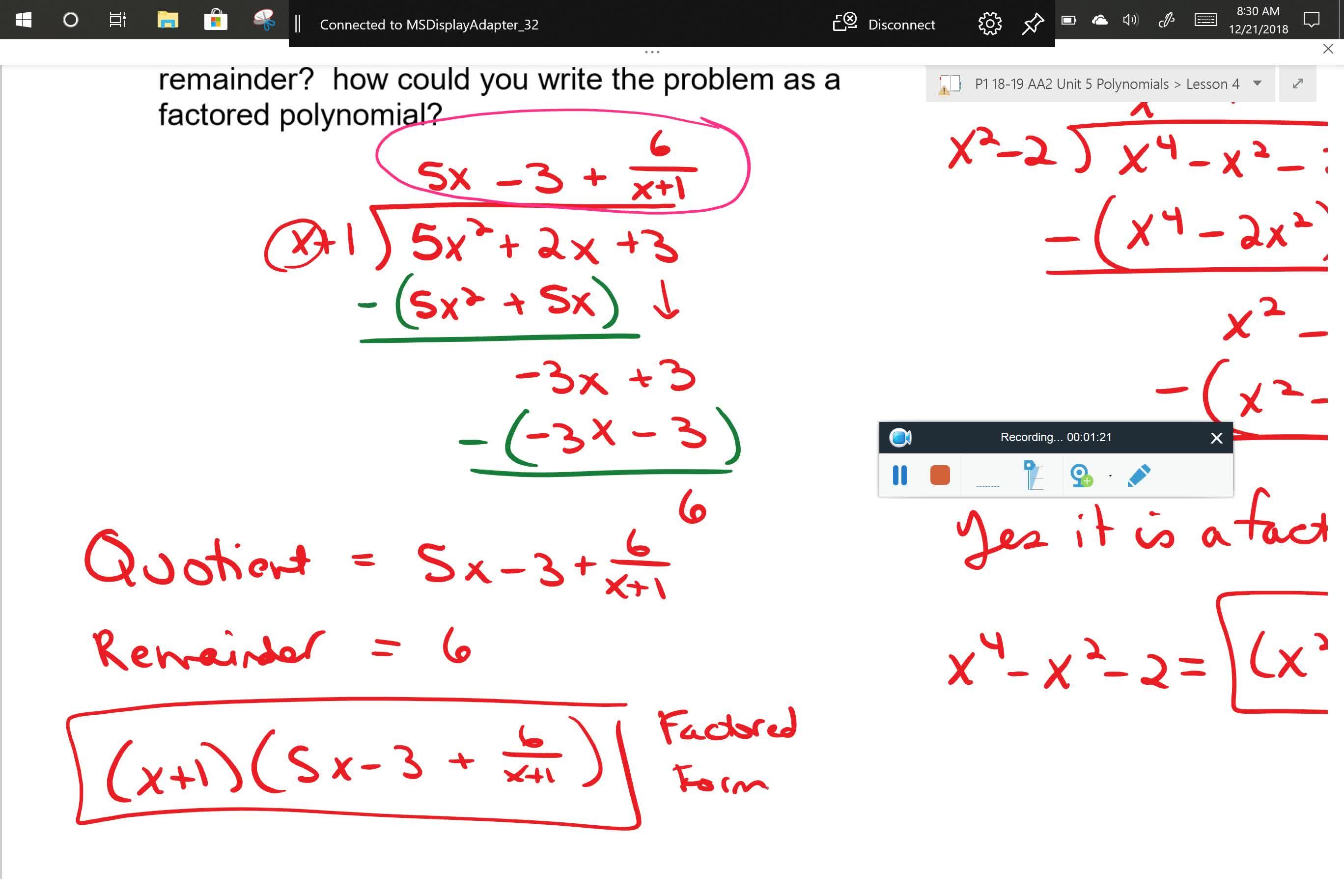 AA2 U5L4 Problem 1 Part 2