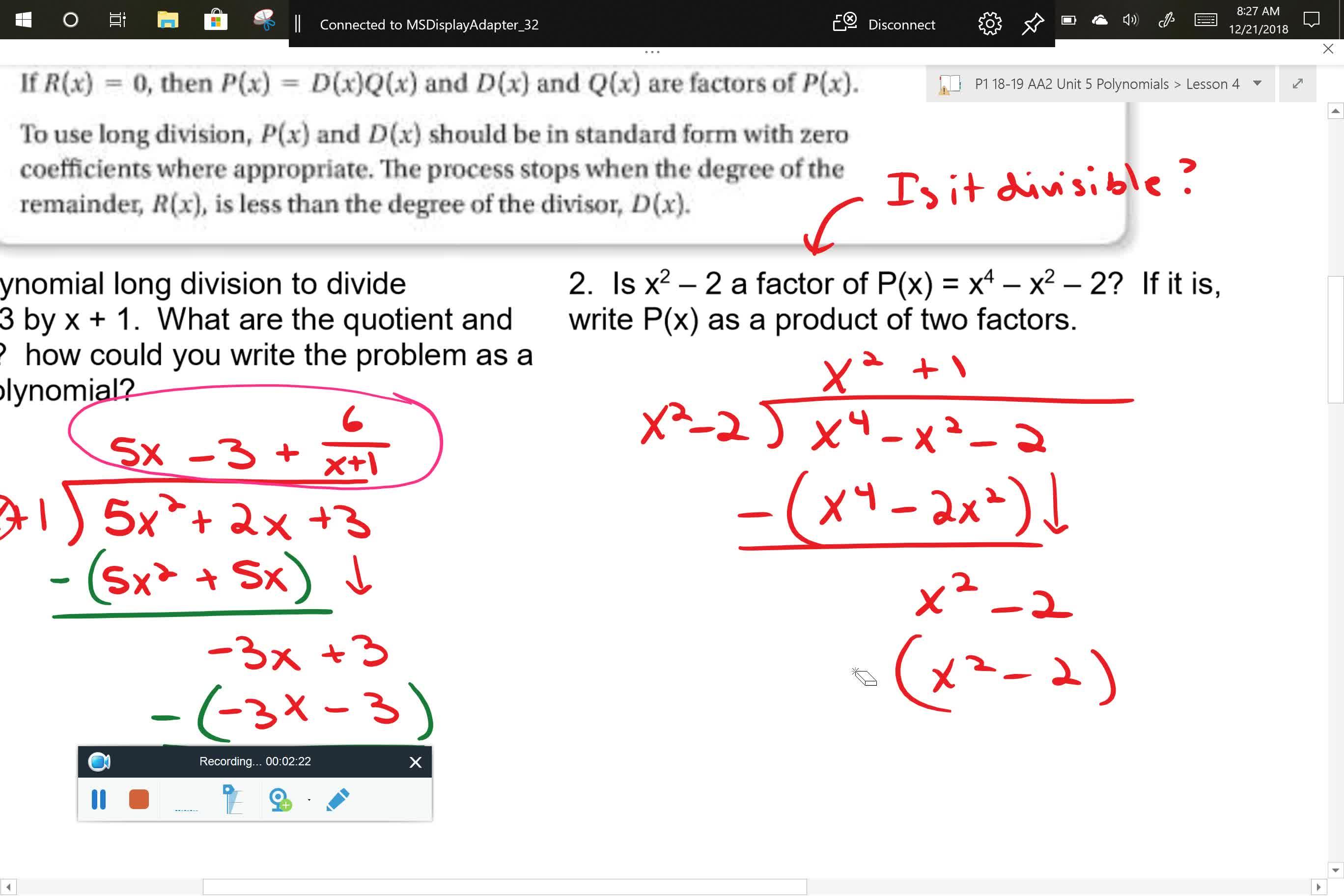 AA2 U5L4 Problem 2