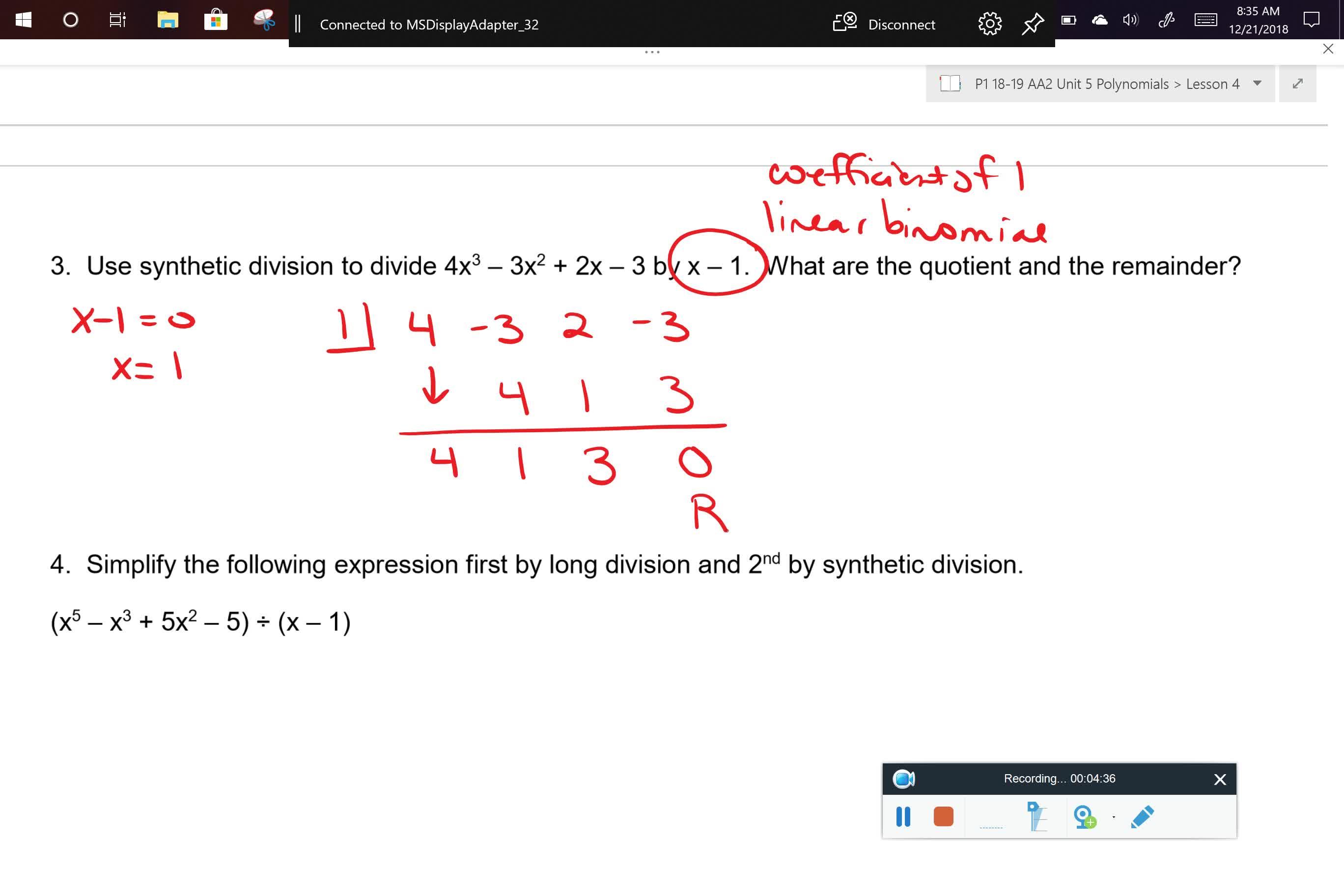 AA2 U5L4 Problem 3