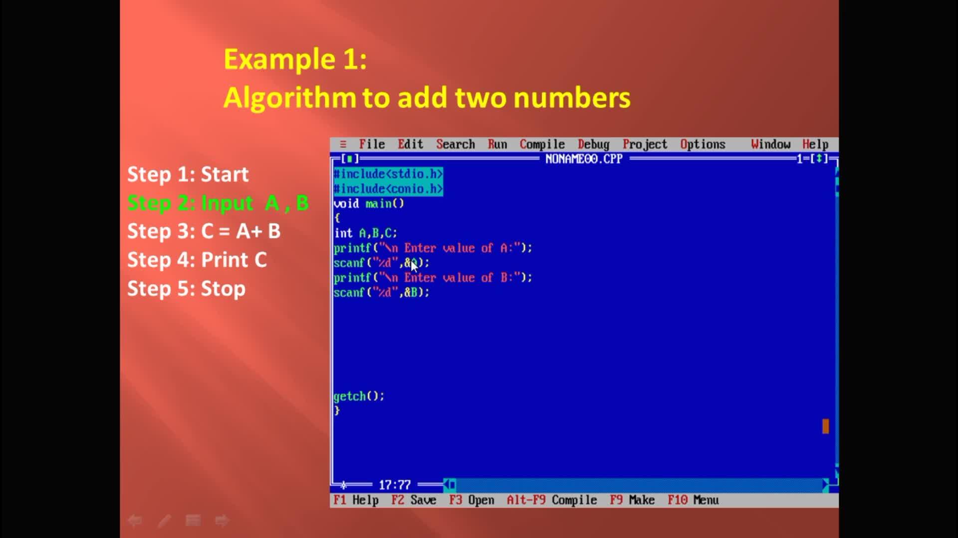How to Convert an Algorithm to C Program