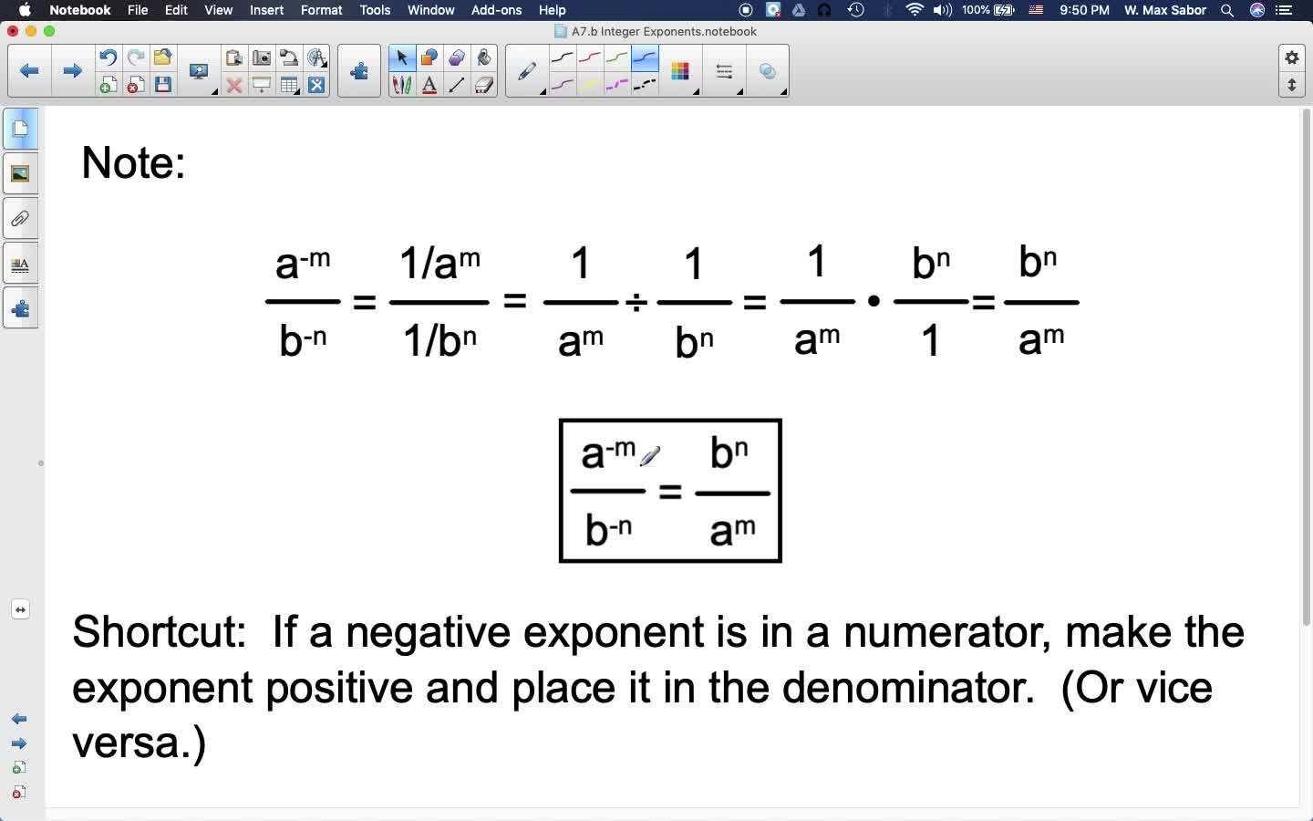 A7.b Integer Exponents