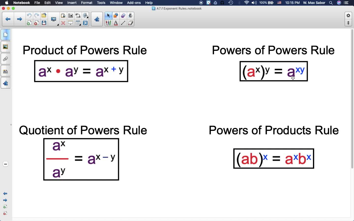 A7.f Exponent Rules