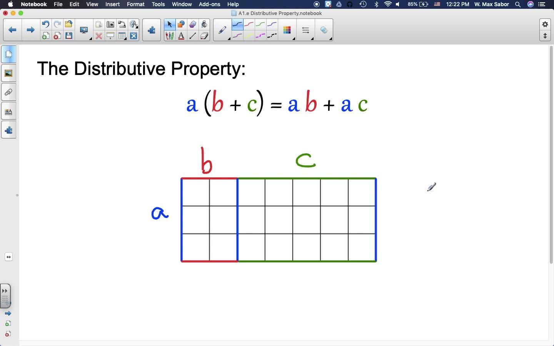 A1.e The Distributive Property