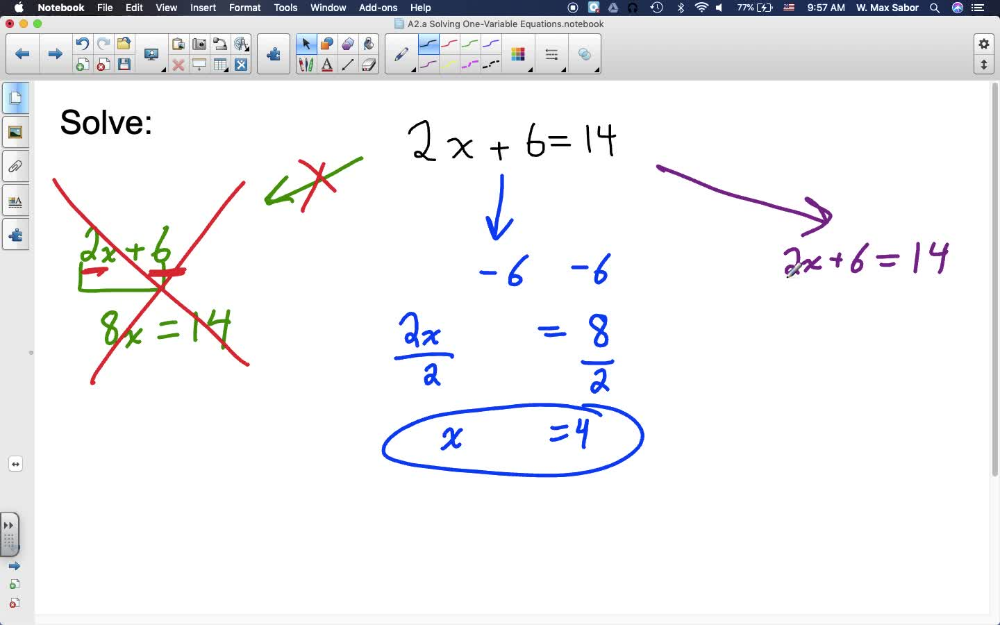 A2.a Solving One-Variable Linear Equations