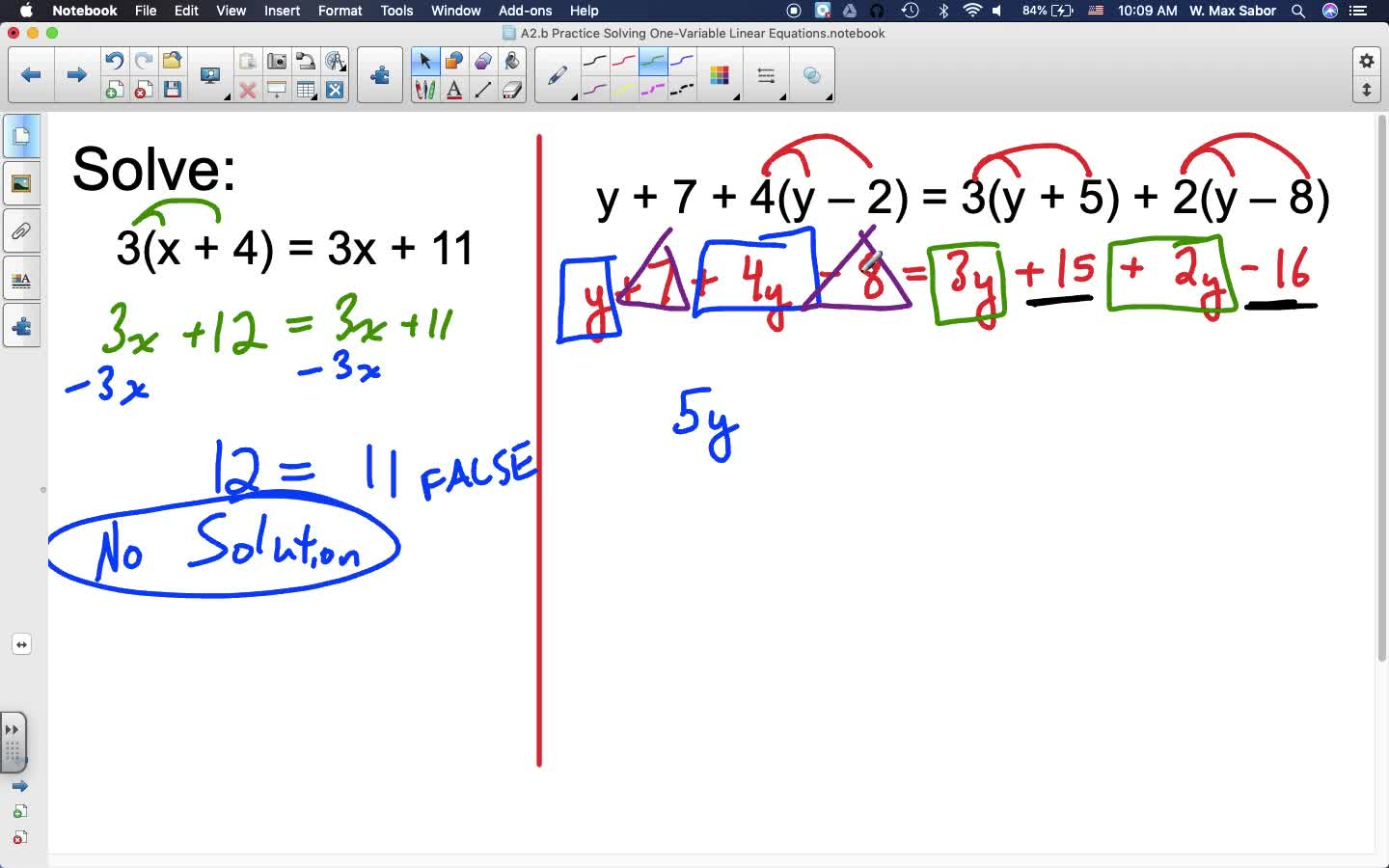 A2.b Practice Solving One-Variable Linear Equations