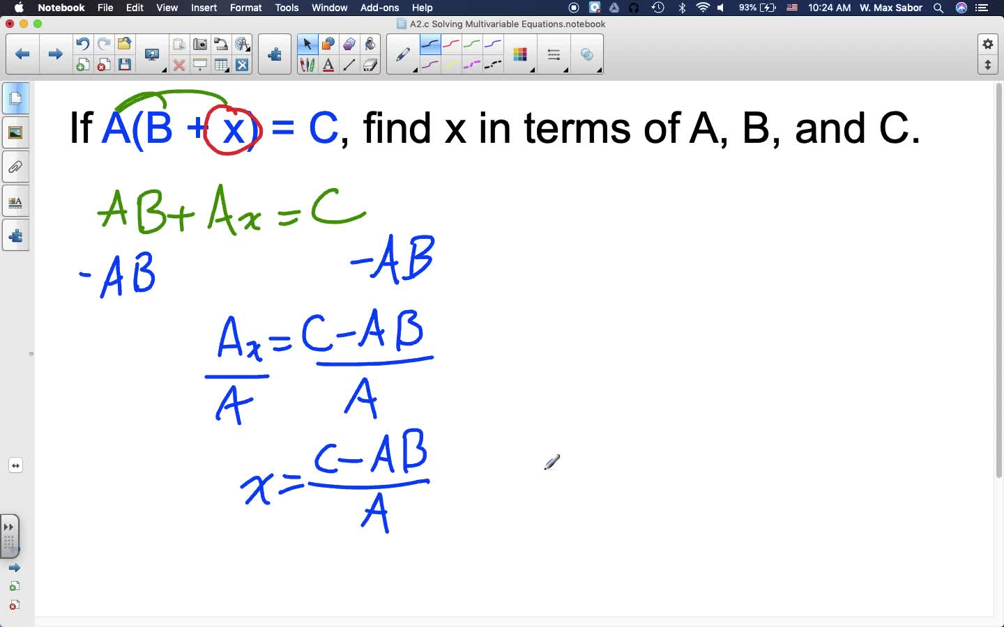 A2.c Solving Multivariable Equations