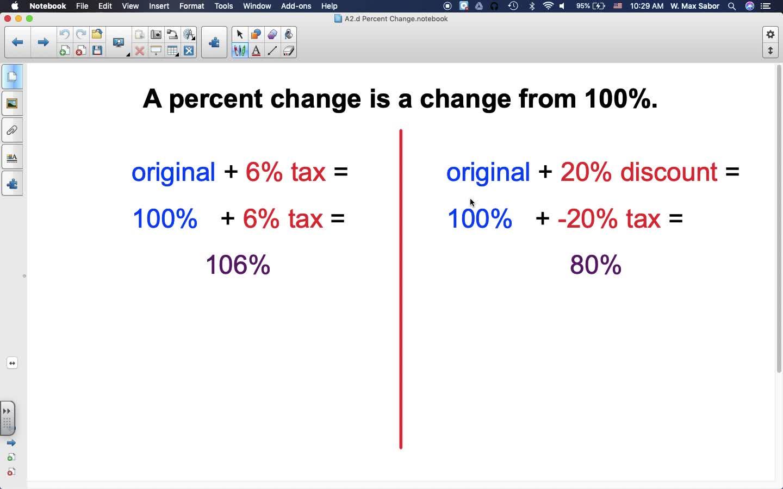 A2.d Percent Change