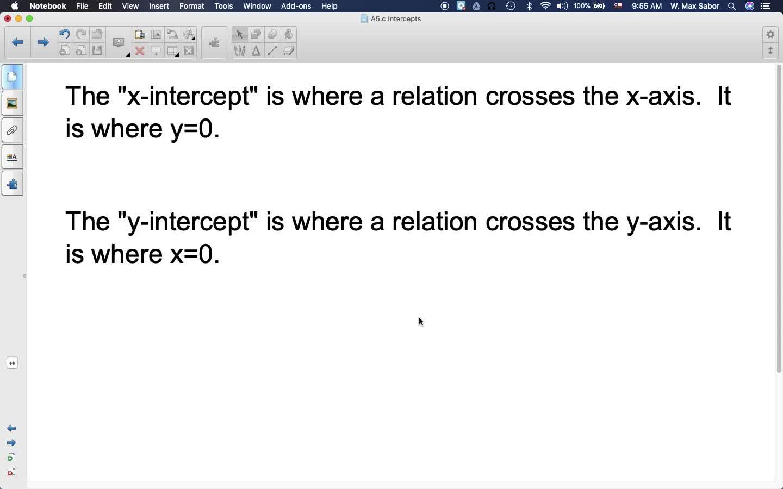 A5.c Intercepts