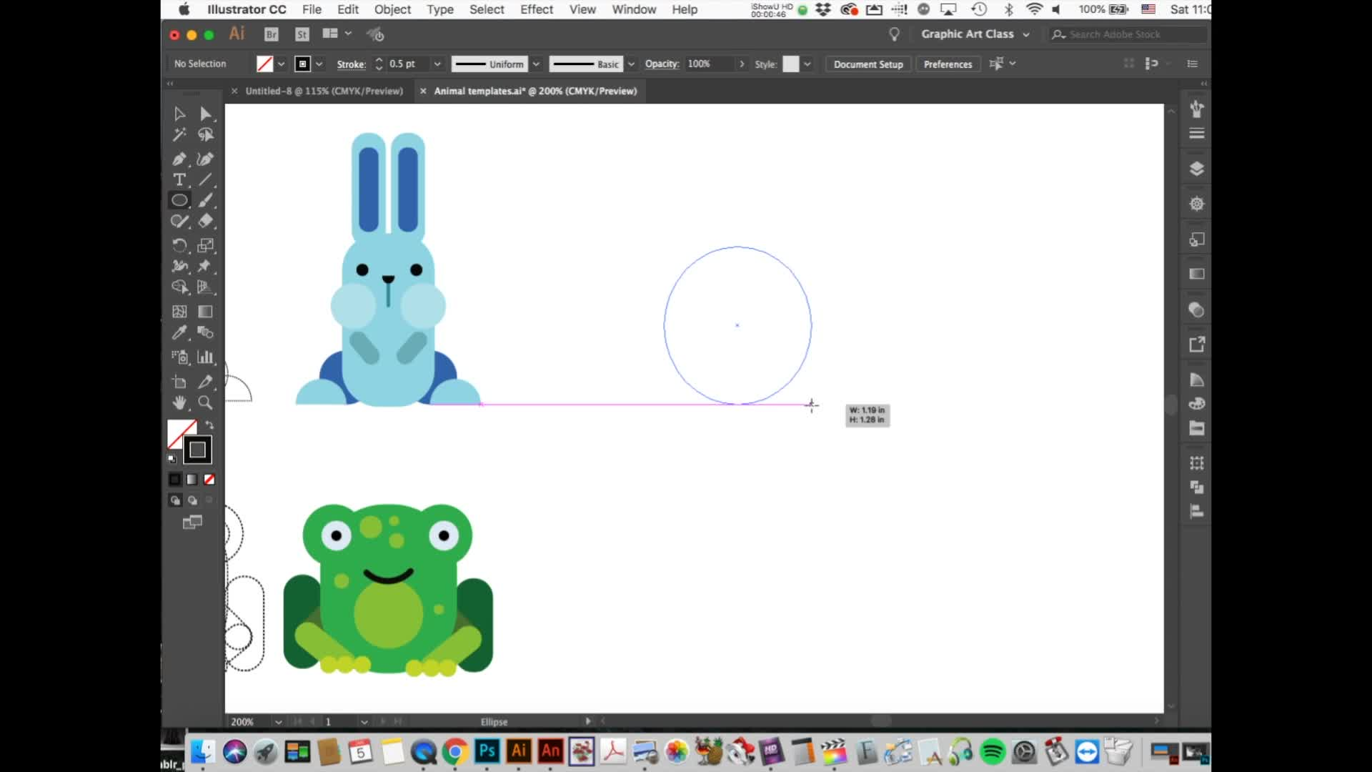 Adobe Illustrator: Basic Shapes and Arranging