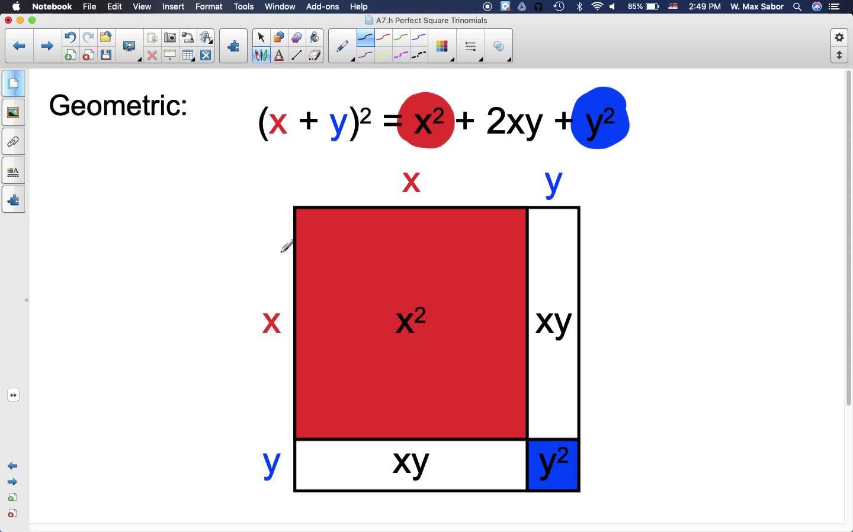 A7.h Perfect Square Trinomials