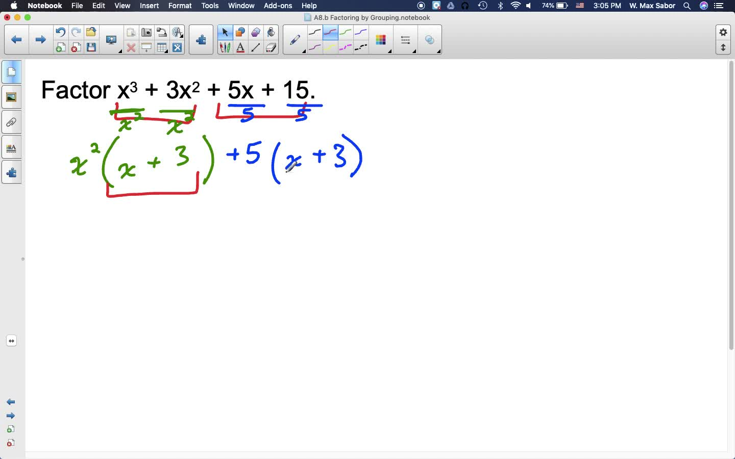 A8.b Factoring by Grouping