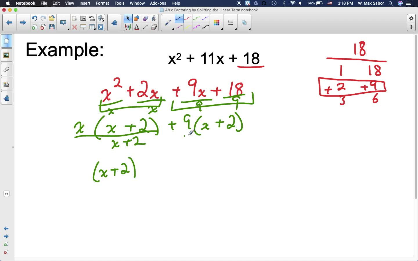 A8.c Factoring by Splitting the Linear Term