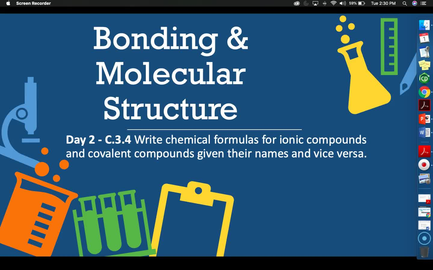 Bonding & Molecular Structure - Lesson 6