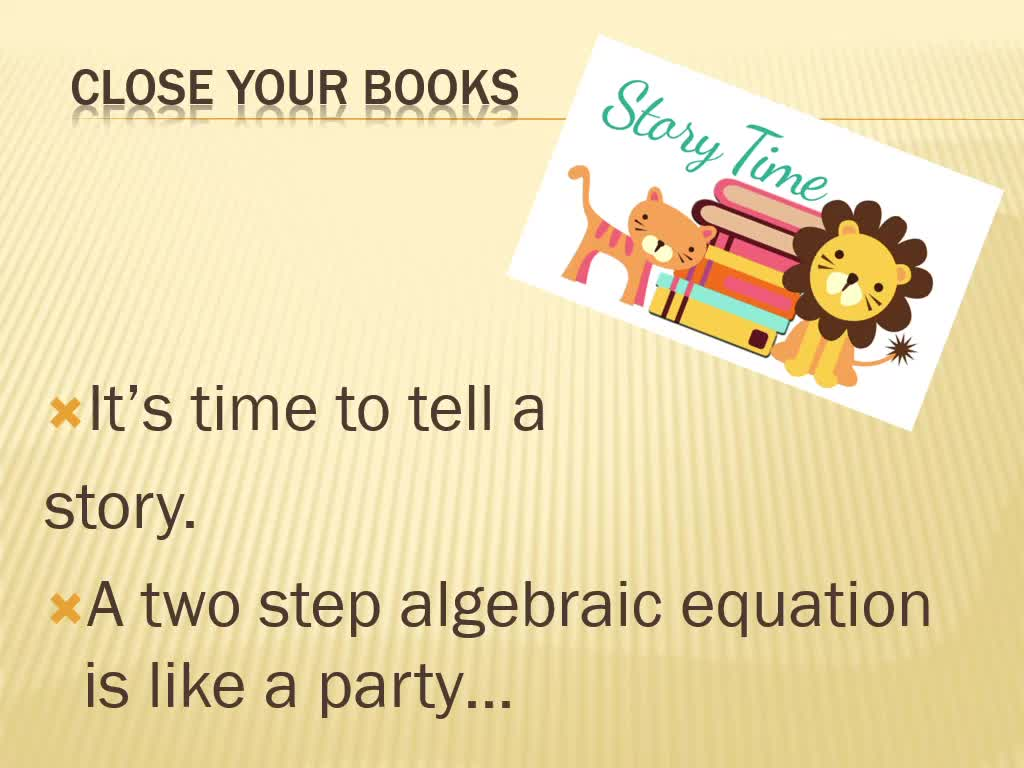 Two Step Equation Party