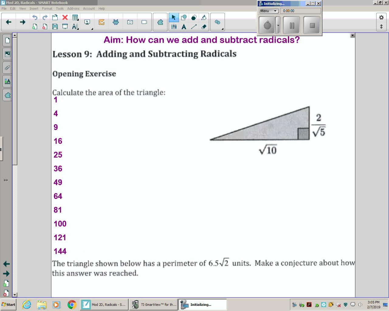 Mod 2D Unit 5 Lesson 9