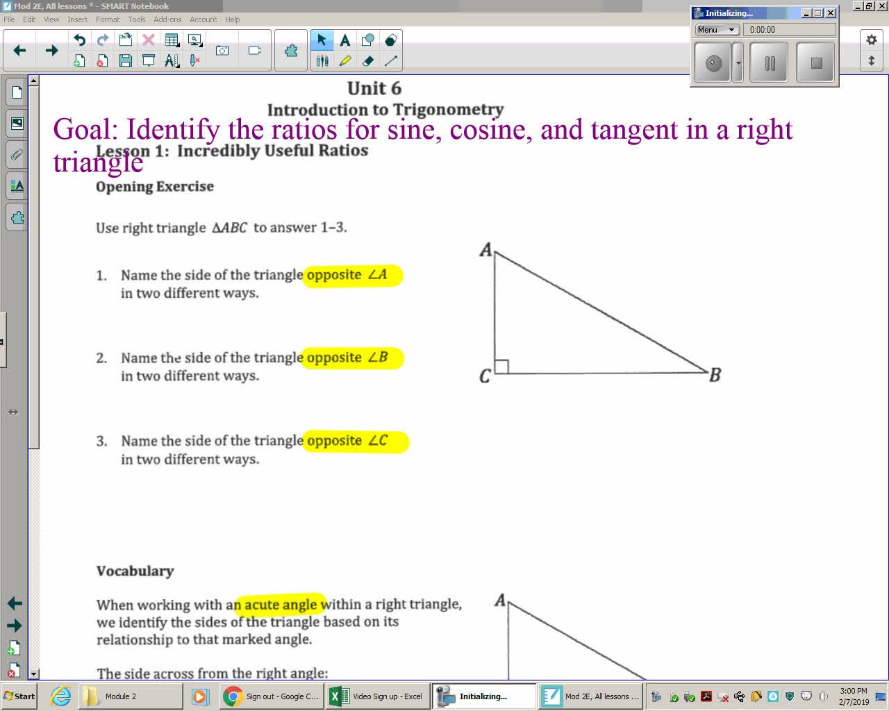 Mod 2E Unit 6 Lesson 1