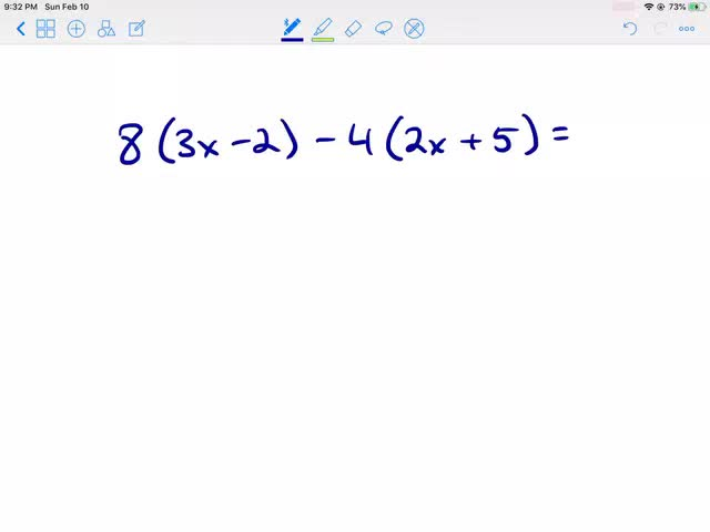Simplifying Algebraic Expression Utilizing Distributive Property