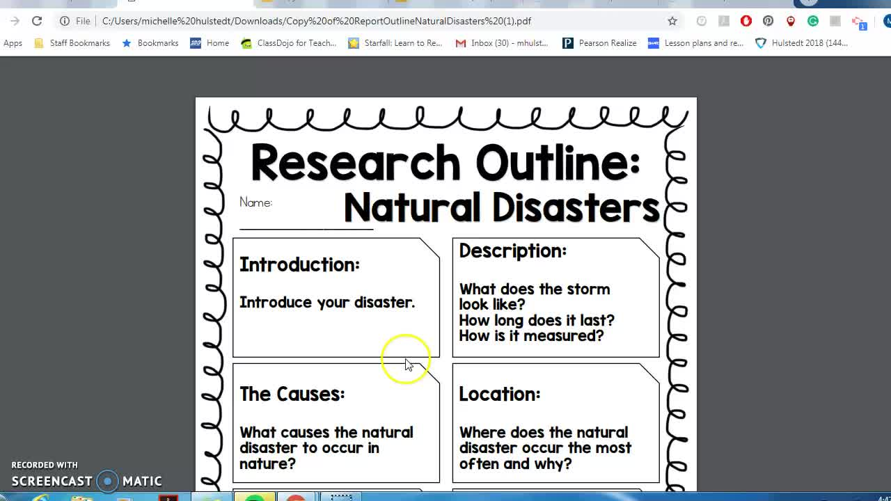 Natural Disaster Unit Final Project