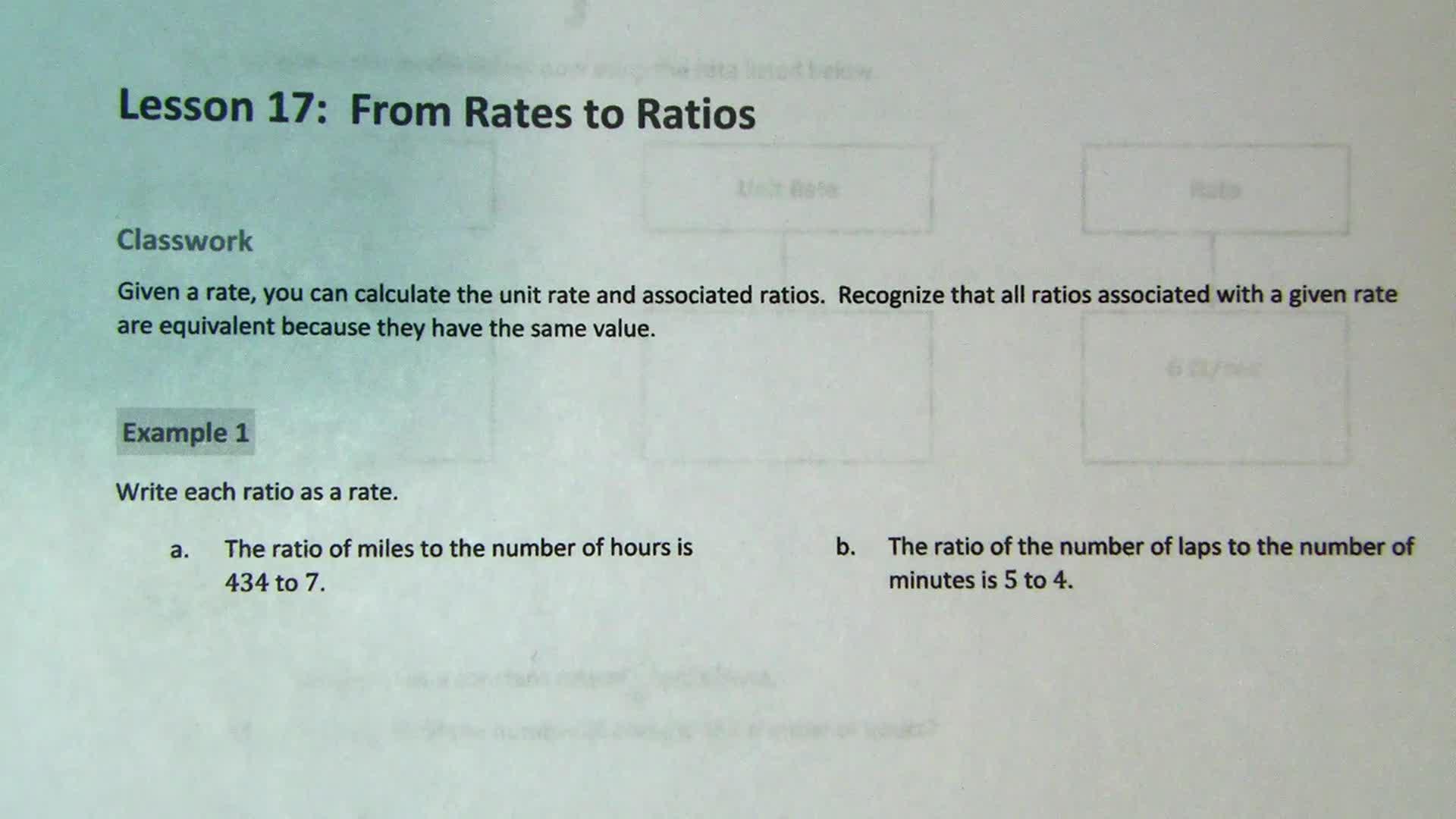 Grade 6 - Module 1 - Lesson 17
