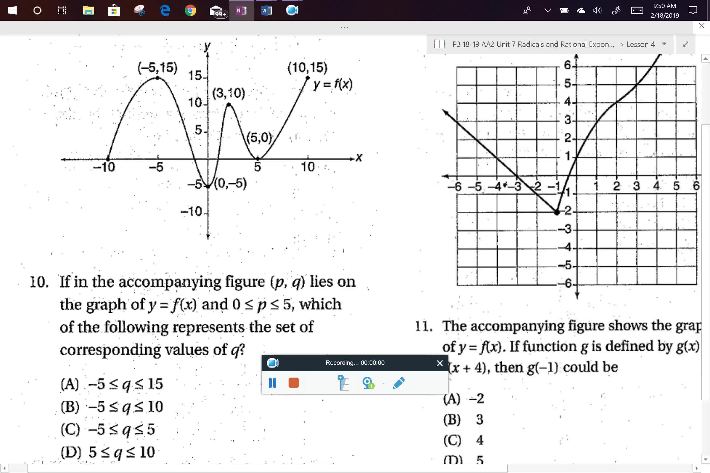AA2 SAT Prep Functions