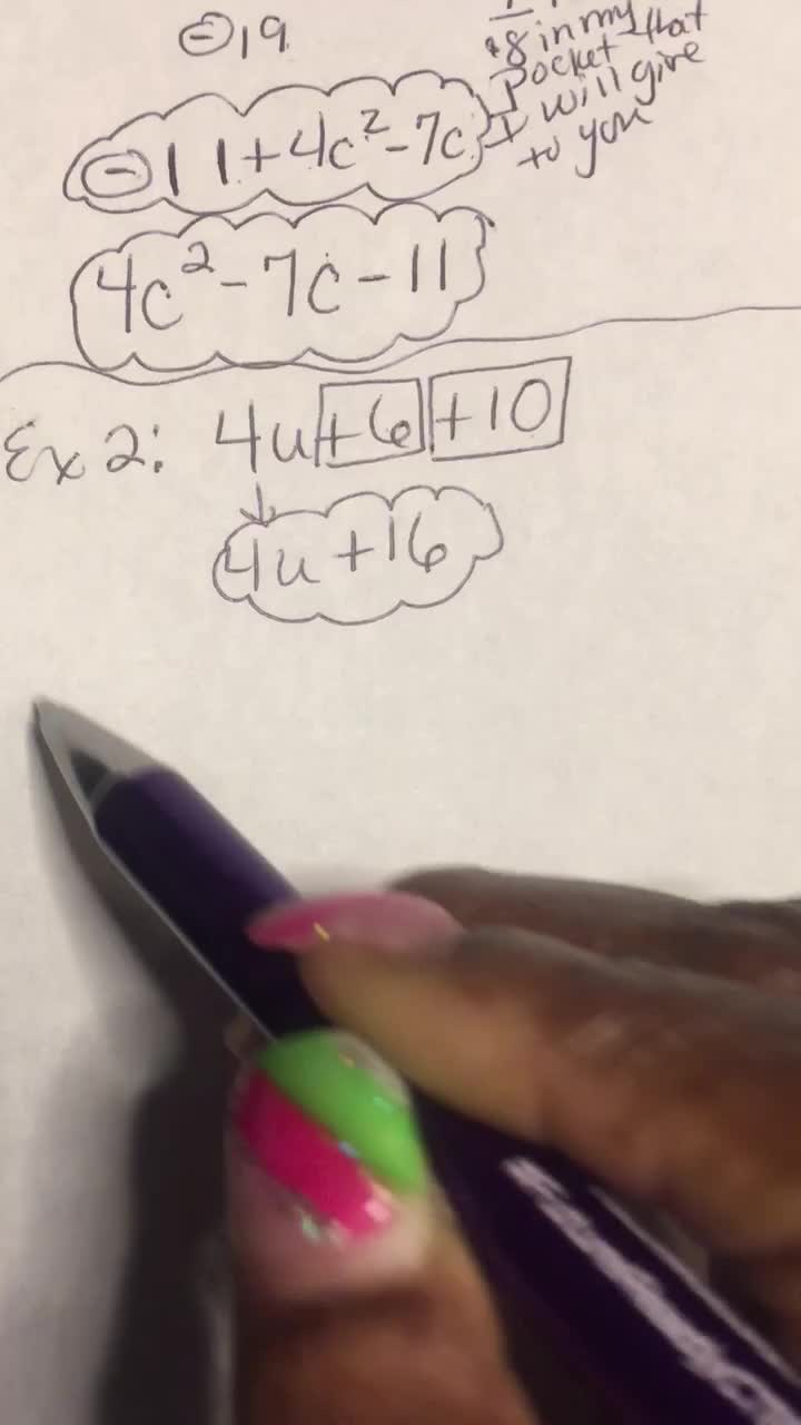 Combining Like Terms-Video2of3