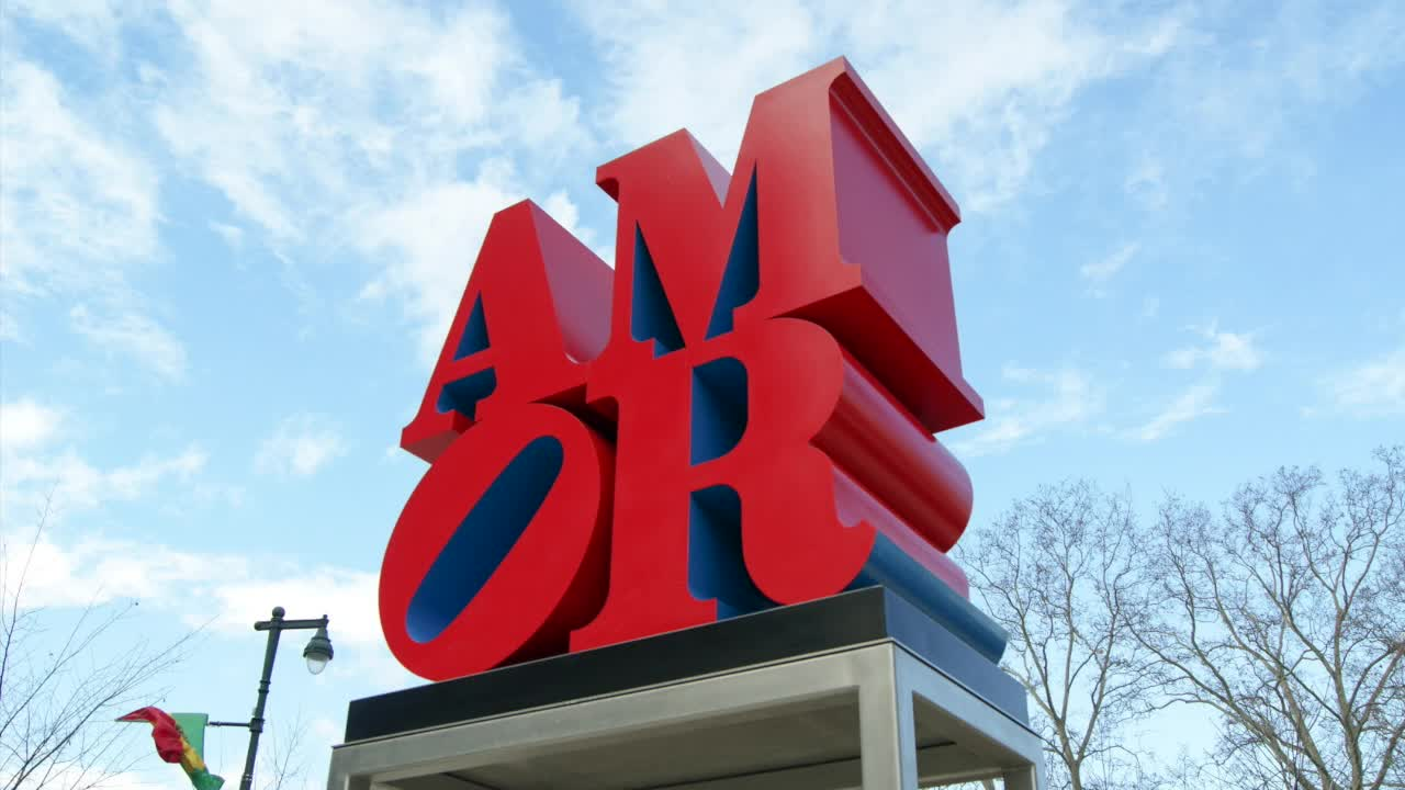 """AMOR"" by artist Robert Indiana"