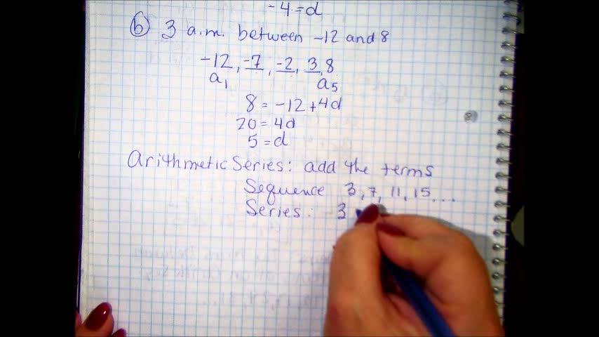 Arithmetic Sequences and Series Part 3
