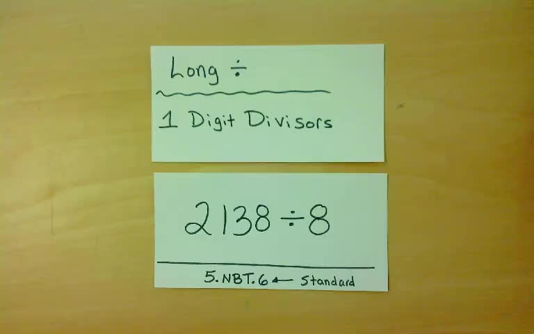 Long Division Algorithm With One Digit Divisors