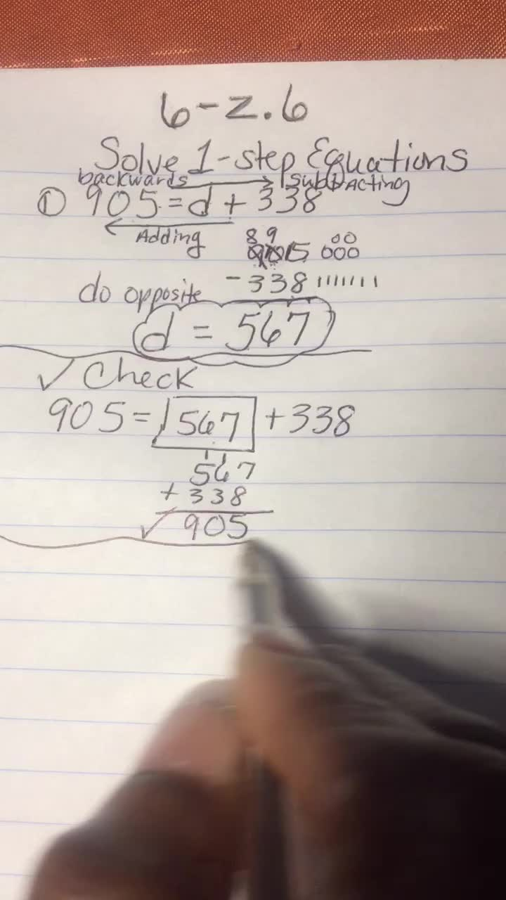 1 - Step Equations - Video 2 of 4