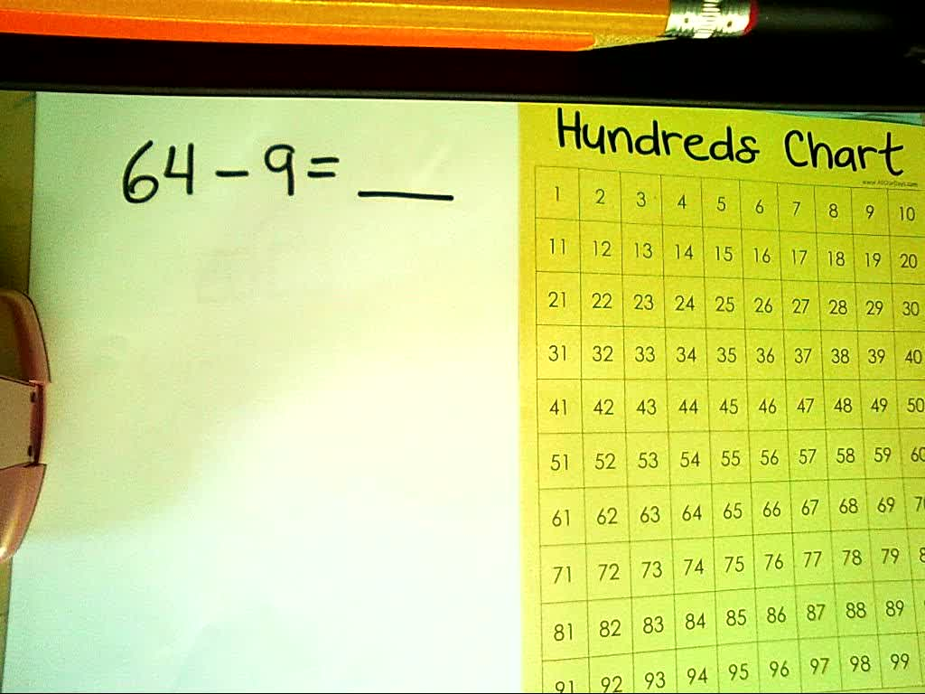 EnVisions Lesson 5.5 - Subtracting By Breaking Numbers Apart (with a Hundreds Chart)