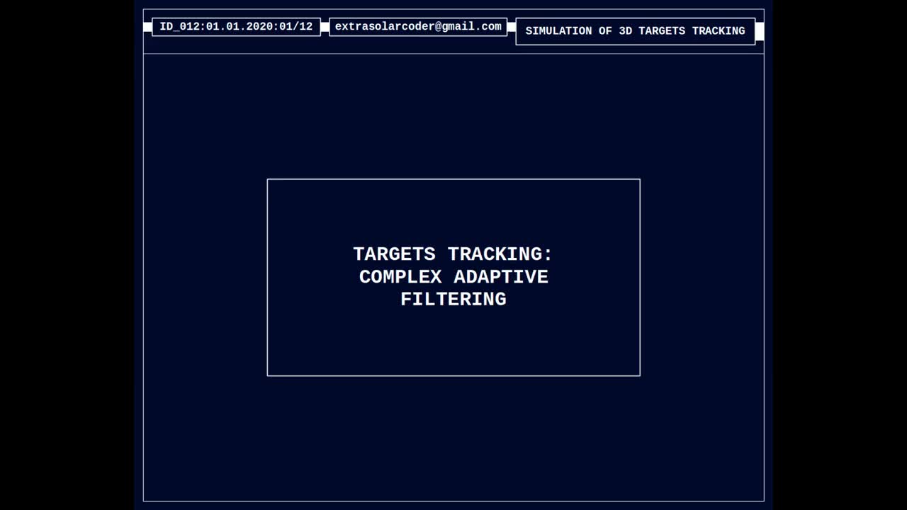 Targets Tracking - Complex Adaptive Filtering
