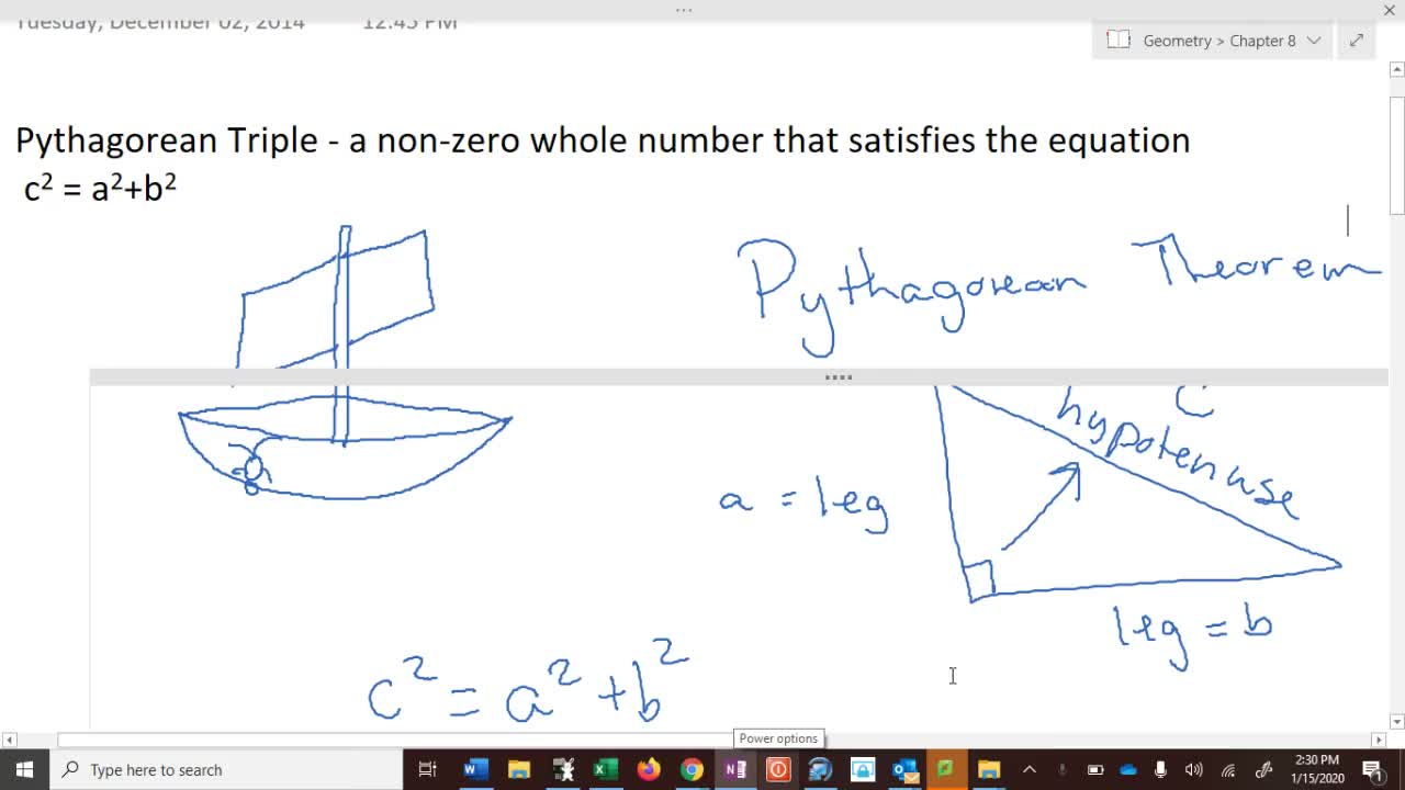 Geometry 8.1 - Pythagorean Theorem