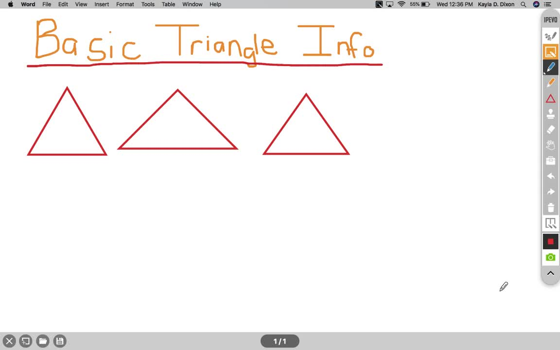 Basic Triangle Information